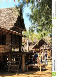 old country style thai home editorial stock photo image 48685528