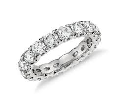 scalloped wedding band blue nile studio scalloped prong diamond eternity ring in platinum