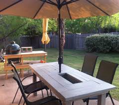Plans For Outdoor Patio Table by Ana White Patio Table With Built In Beer Wine Coolers Diy Projects