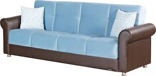 columbus blue fabric sofa bed by empire furniture usa