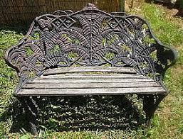 small cast iron fern garden bench british early 1900 u0027s item 778068