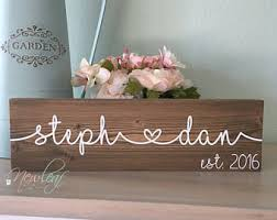 wedding gift name sign custom name sign etsy