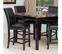 contemporary counter height table amazon com counter height dining table set contemporary style
