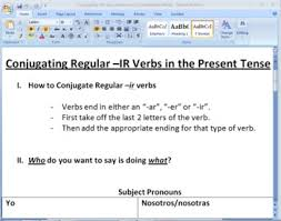 conjugating ir verbs in present tense worksheet by el sr neuhausel