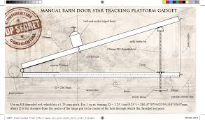 making and using a manual barn door star tracker psychohistorian org