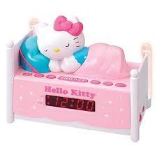 clock radio with night light amazon com officially licensed hello kitty kt2052 alarm clock radio