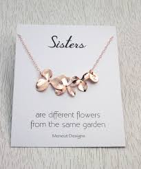 gold flowers necklace images Sister 39 s flower necklace gold and silver orchid charm jpg