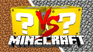 minecraft cobble vs dirt lucky block challenge cobblestone is