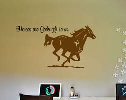 Quote Decals For Bedroom Walls Horse Quote Wall Decal Horse Wall Words Sticker Girls Room