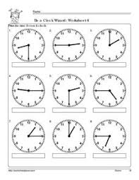 be a clock wizard worksheet 6 2nd 3rd grade worksheet lesson