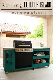 Kitchen Island Plans Diy Diy Rolling Outdoor Kitchen Building Plans This Is Exactly What