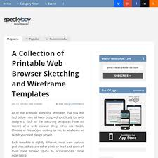 a collection of printable web browser sketching and wireframe
