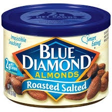 blue diamond roasted salted almonds 6 oz walmart com