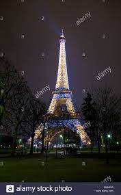 eiffel tower light show eiffel tower at night during the hourly light show paris france
