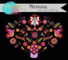 mexican embroidery digital clip art wedding instant
