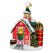 radko ornaments 2014 radko barn ornament festive