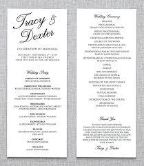 sle of wedding ceremony program wedding ceremony wording ideas wedding invitation sle