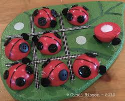 national craft month ladybug tic tac toe game smoothfoam