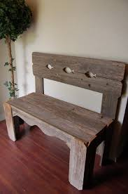 rustic wooden benches with backs bench decoration