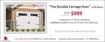 Overhead Door Warranty by Garage Door Coupons Installations U0026 Repairs Tgs Garages U0026 Doors