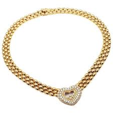 heart gold necklace diamonds images Chopard happy diamonds diamond heart yellow gold necklace for sale jpg