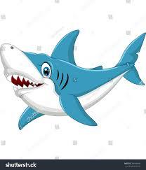 shark cartoon illustration stock vector 309546884 shutterstock
