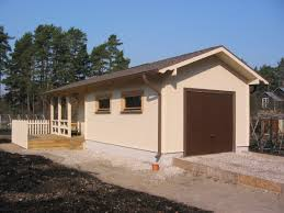 Garage With Workshop Children Playhouse Ztc Prefab Wood Houses