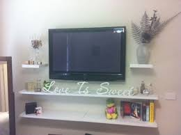 Tv Wall Shelves by Best 20 Floating Media Shelf Ideas On Pinterest U2014no Signup