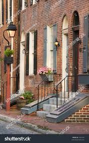 charming brick rowhouses philadelphia pa stock photo 7957072