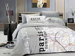 Twin Comforters For Adults White And Gray Paris Down Town Map Twin Comforters For Adults With