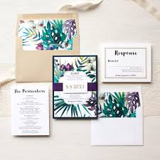 jewel tone tropics destination wedding invitations beacon lane