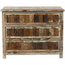 Classic Home Vintage Reclaimed Wood MultiColor  Drawer Chest - Classic home furniture reclaimed wood