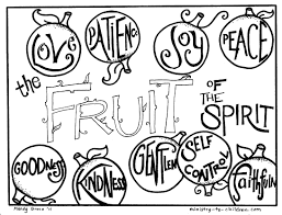 fruit of the spirit coloring page free coloring pages on art