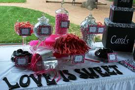 Pink And Black Candy Buffet by Candy Buffet Black And White With Fuschia Wedding Black Candy