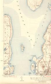 Map Of Newport Ri Prudence Island Ri Quadrangle