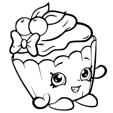 cherry cupcake shopkins coloring pages