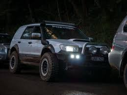 modified subaru forester off road monster sg forester battlewagon