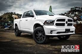 white dodge truck this ram 1500 with fuel wheels isn t just black and white