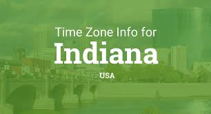 Indiana Time Zone Map Time Zones In Indiana United States