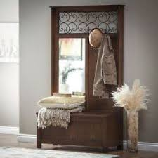 hall tree with bench and mirror foter