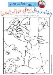 red riding hood colouring sheet