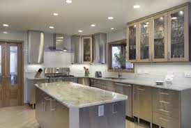 kitchen design stainless steel kitchen cabinets with glass doors