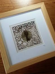 key to my heart original papercut and assemblage by