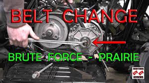 how to change belt on kawasaki brute force or prairie 360 650 700