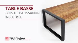 Table Acier Bois Industriel by Table Basse Industrielle En Bois De Palissandre Youtube
