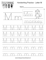 Letter Recognition Worksheets Kindergarten Letter M Writing Practice Worksheet This Series Of