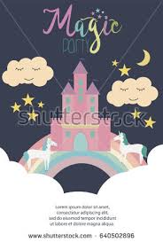 fantasy castlekingdom sky clouds structure grouped stock vector
