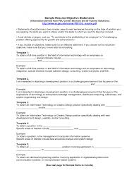 cover letter objective statement on a resume good objective