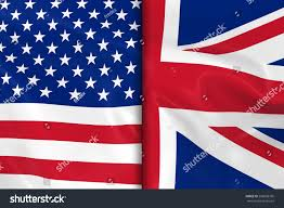 The America Flag Flags Usa Uk Split Down Middle Stock Illustration 296698766