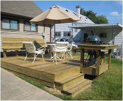 backyards charming backyard deck designs build small elevated